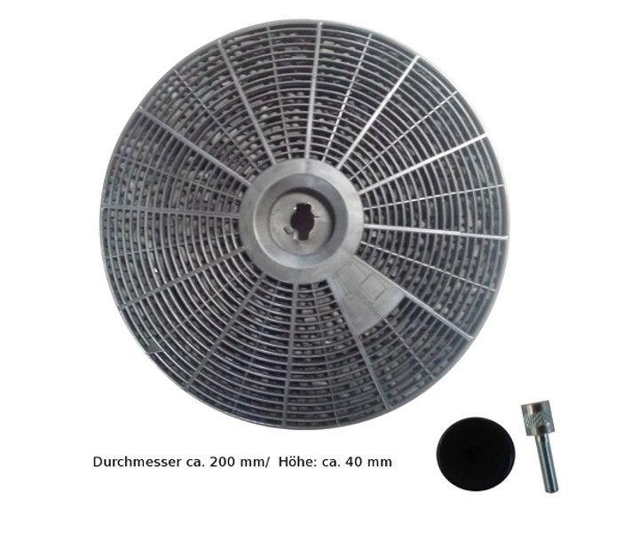 Kohlefilter rund 200 mm wie df127024 kohlefilter abzugshaube