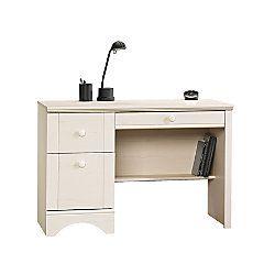 Sauder Harbor View Wood Computer Desk Antiqued White Item