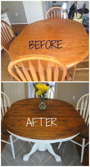 How to give your wood table a complete shabby chic makeover - Comment Peindre Du Papier Peint