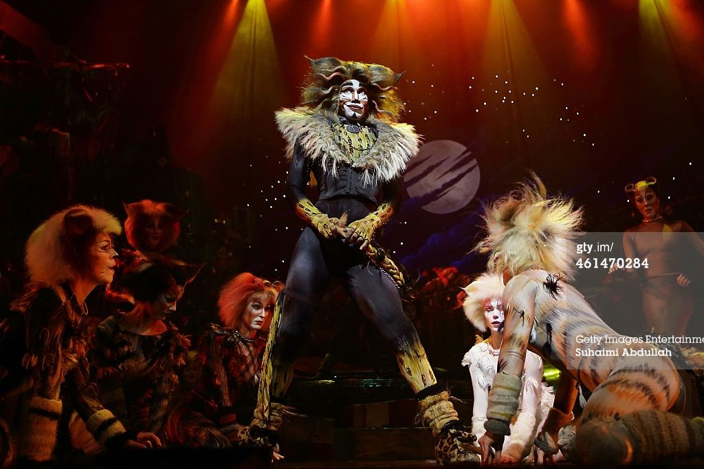 Cast members for the musical 'CATS' perform on stage