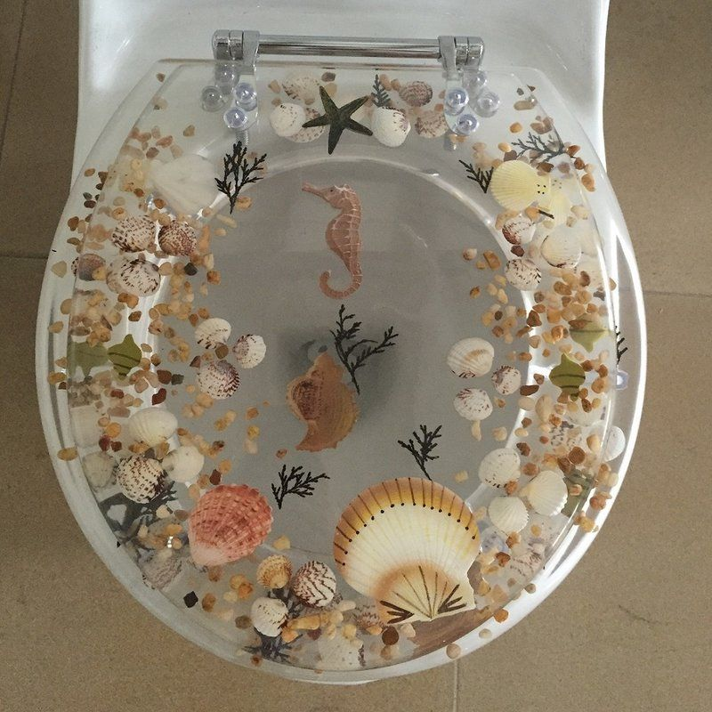 Sea Treasure Elongated Toilet Seat In 2019 House Ideas