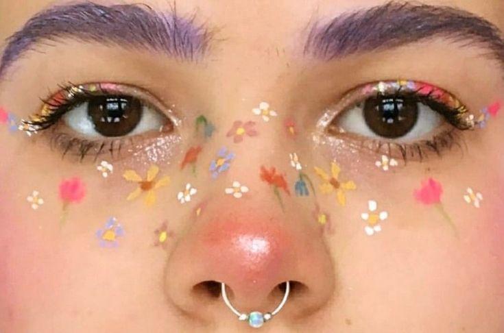 #Makeup #Kunst #Ästhetik #Zufall #Blumen #Nägel #