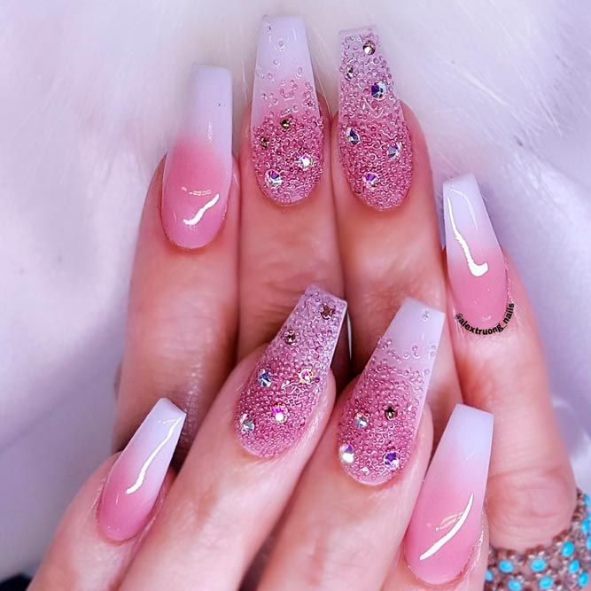 Beautiful White Tip Nails Designs Specially for You ☆ See more:  https://naildesignsjournal.com/white-tip-nails-designs/ #nails - Beautiful White Tip Nails Designs Specially For You Nailed Me