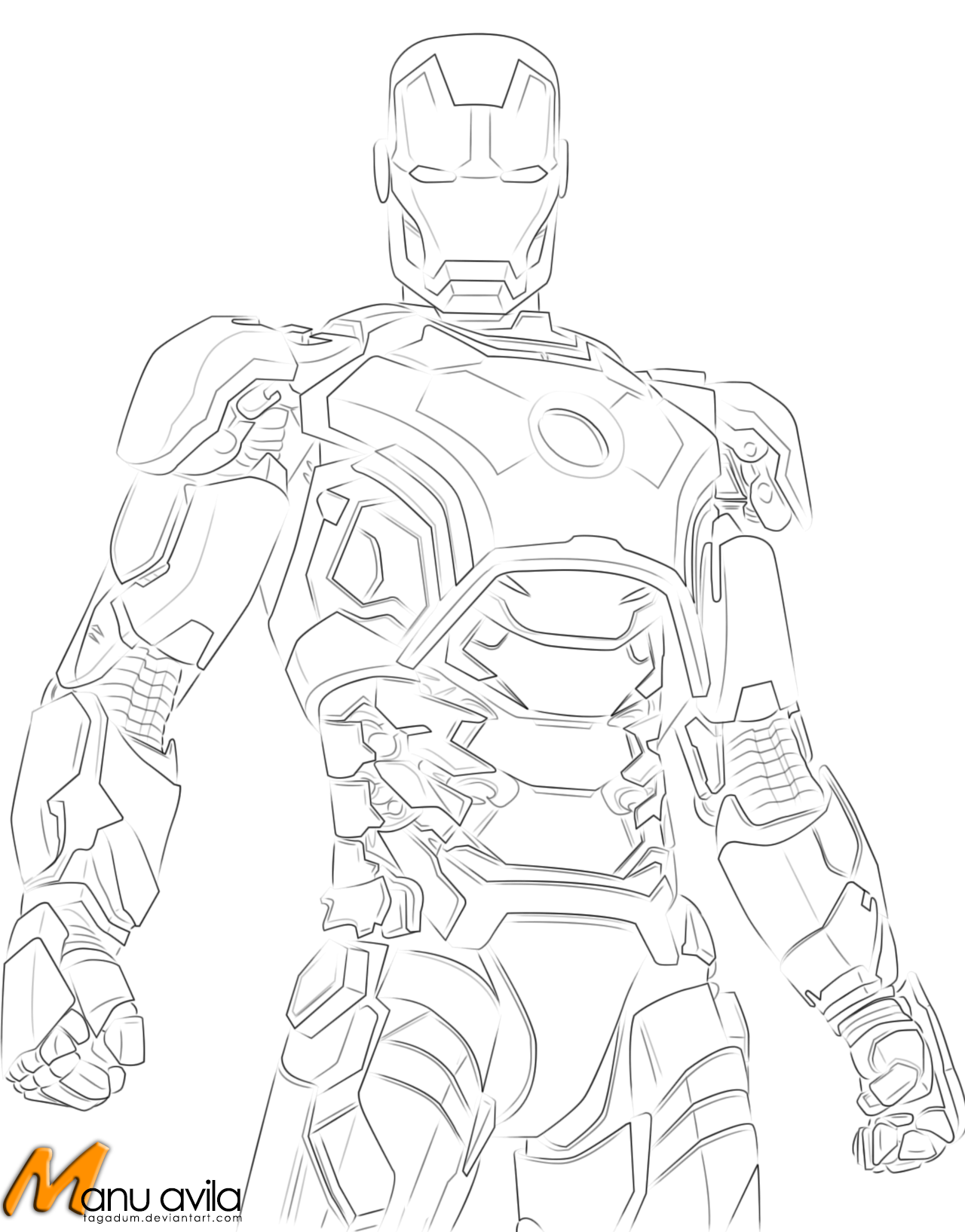 Iron Man Suit Coloring Pages For Kids
