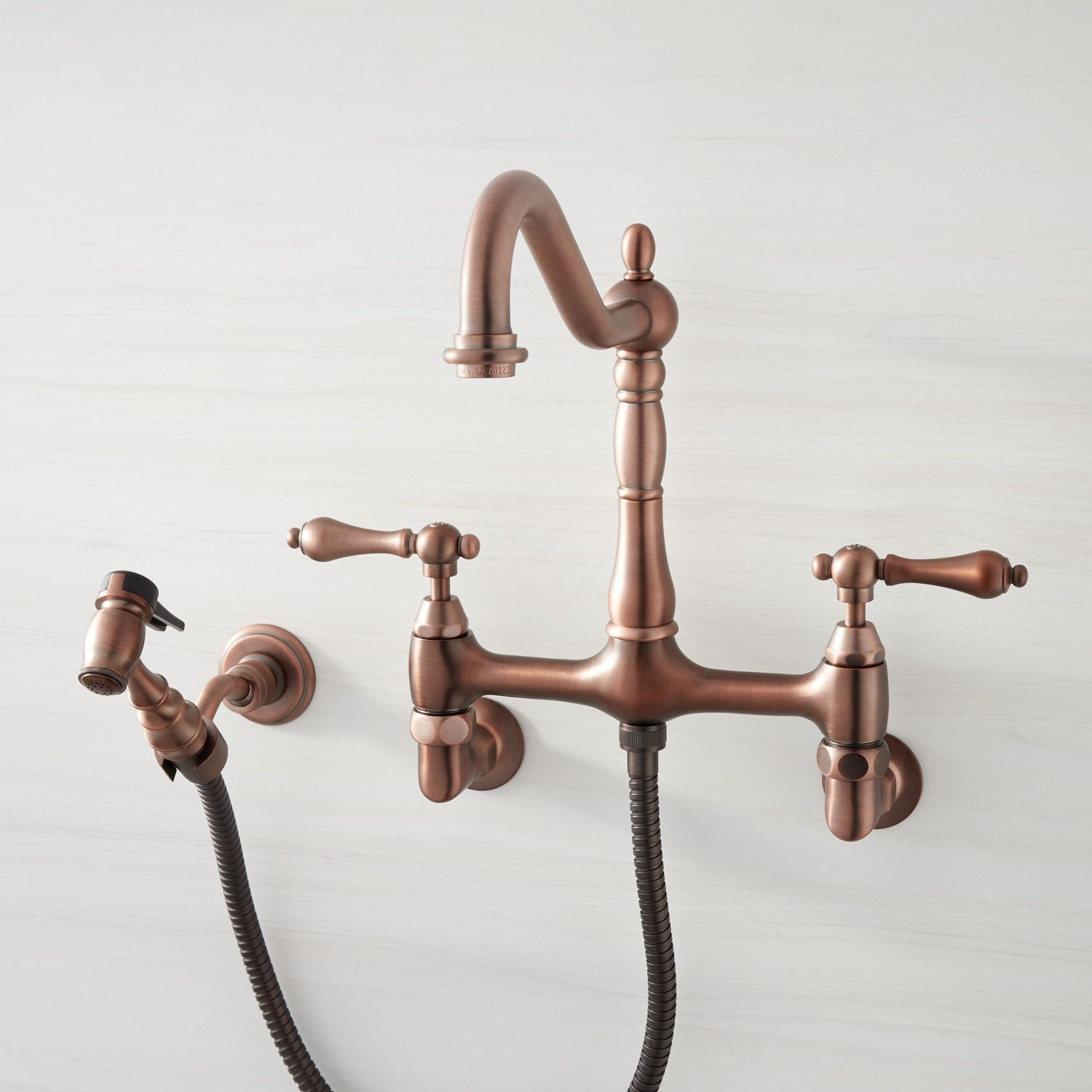 Felicity Wall Mount Kitchen Faucet With Side Spray Kitchen Faucets Kitchen Wall Mount Kitchen Faucet Kitchen Faucet Bronze Kitchen Faucet
