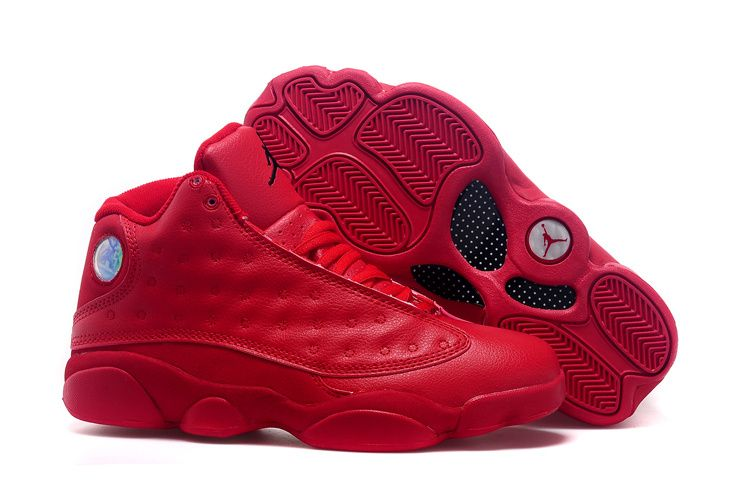 air jordan 13 color black/gym red-black spider