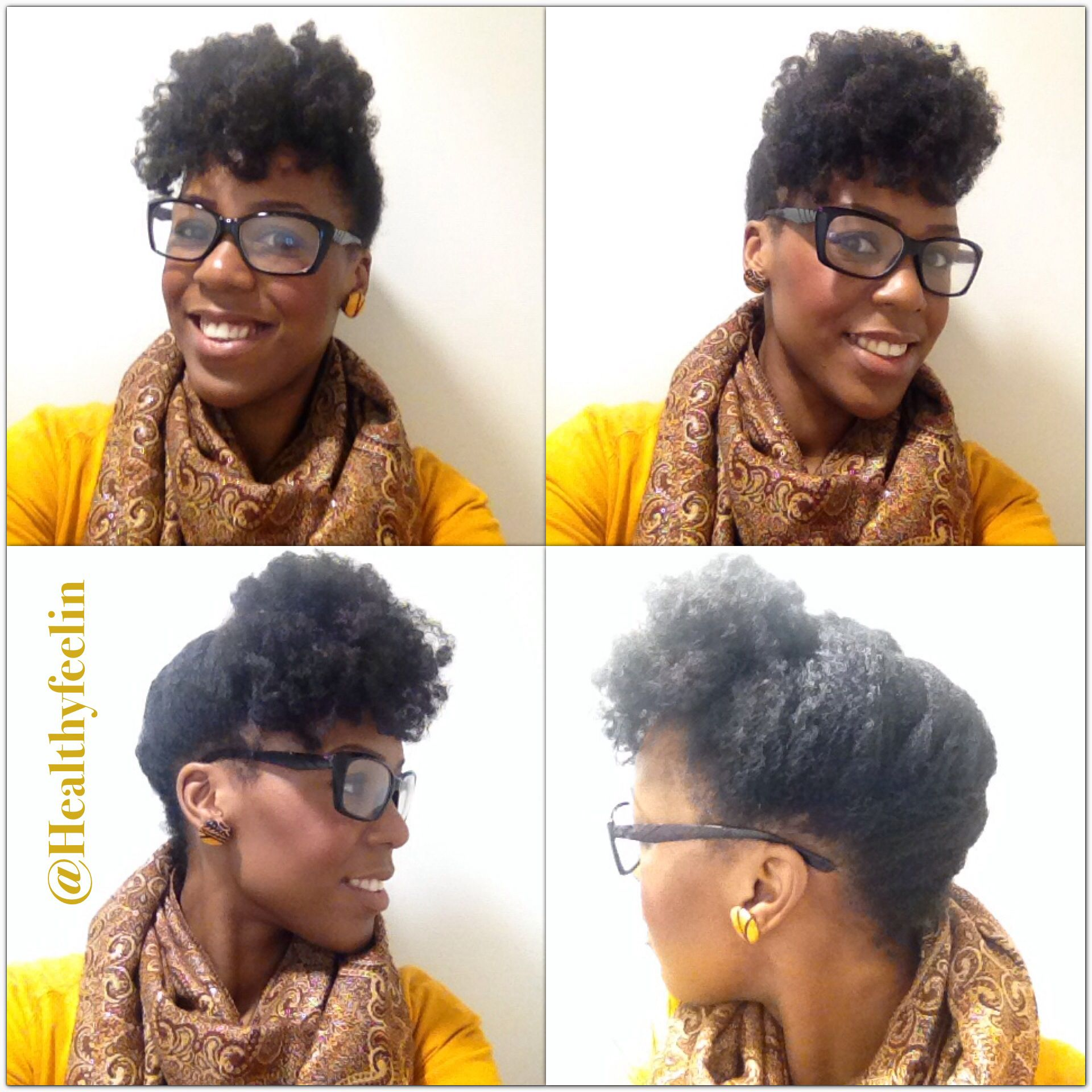 Coiffure Afro Bantu Knots Tuck And Pin From A Failed Bantu Knot Out On Natural 4c