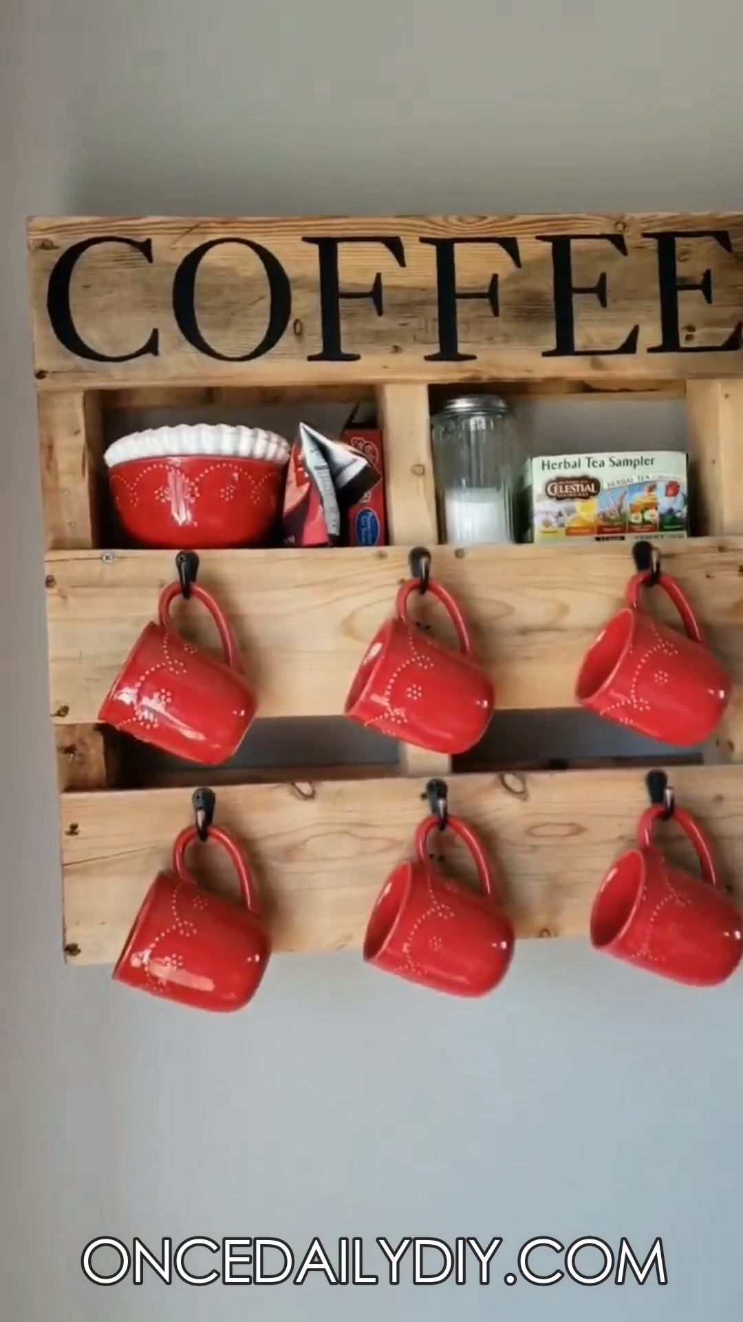 Wood Pallet Coffee Cup Holder #coffeecup