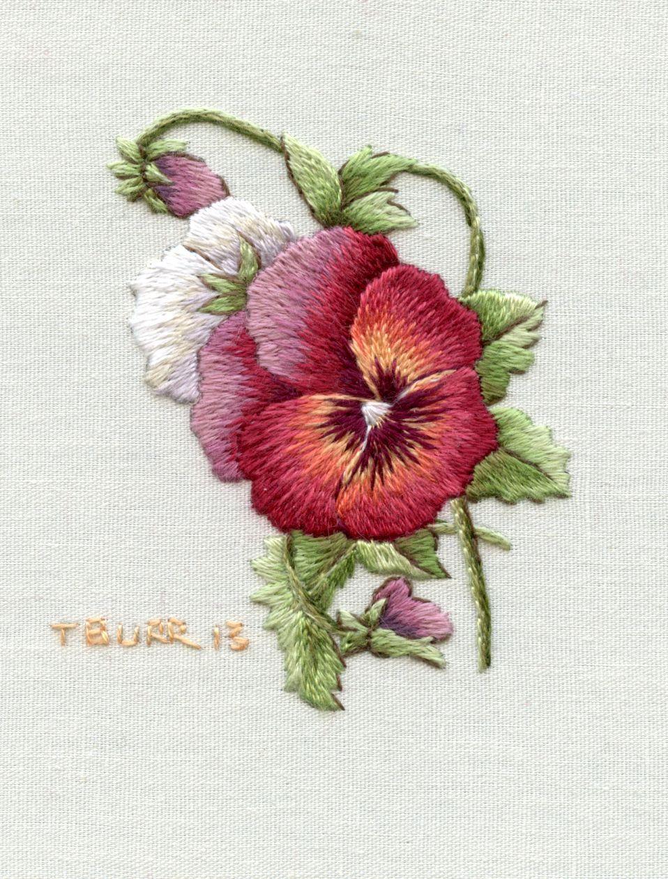 Pansyg pixels craft embroidery pinterest