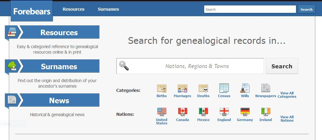 Wwwforebearsio excellent search resource ancestry