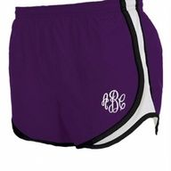Nylon shorts in red/black, Hot pink/black and royal/black available at Jackie's Embroidery  $30, includes embroidery.