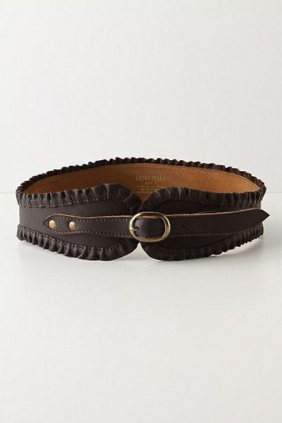 anthropologie: Ruffled Corset Belt