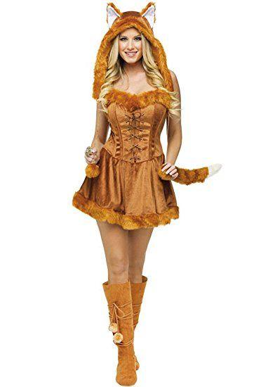 Jumpsuit Tier Fasching Halloween Kostum Fuchs Madchen Cosplay Damen