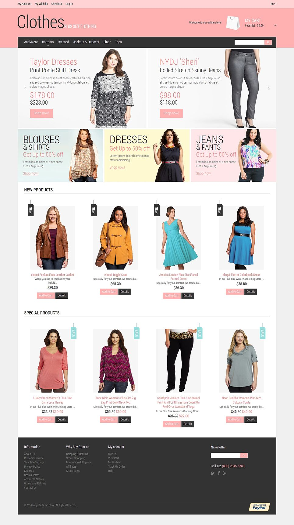 Plus Size Clothing Magento Theme 48514 Plus Size Outfits Pink Ladies Fashion Installation