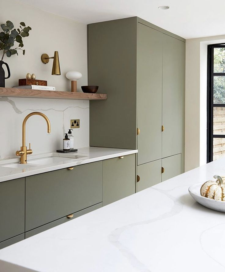 7 Gorgeous Green Kitchens to Change Your Luck All