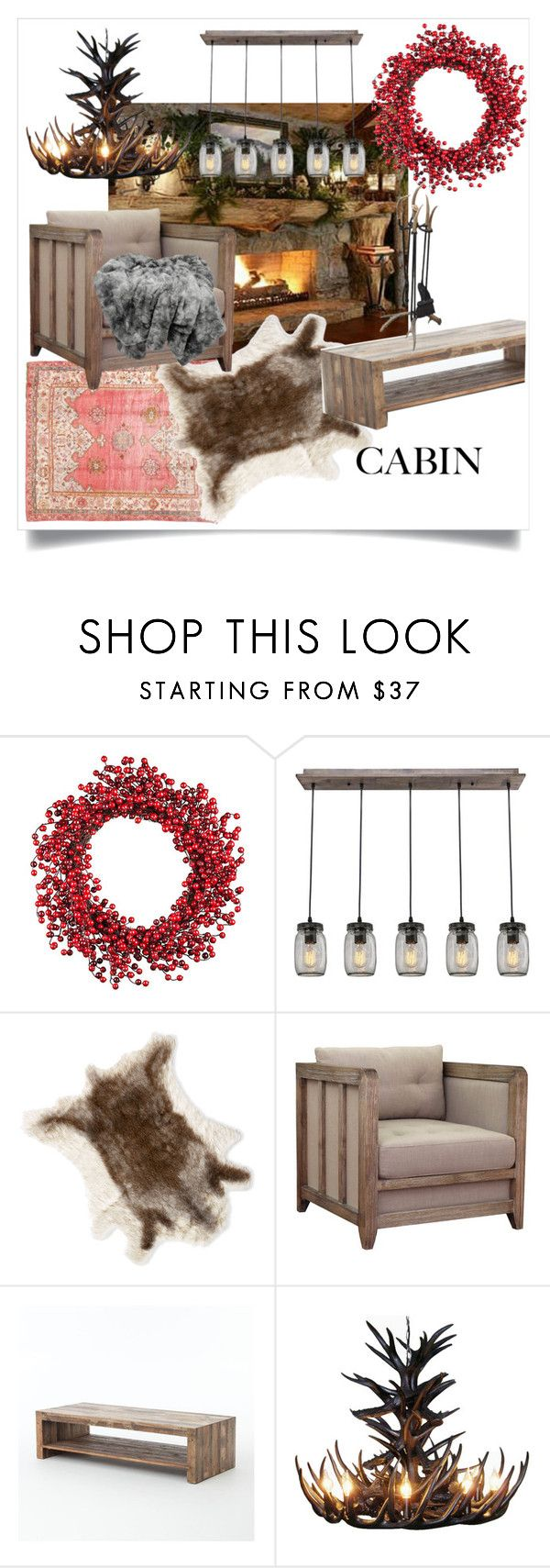 """""""reds and browns"""" by alexei-puha ❤ liked on Polyvore featuring interior, interiors, interior design, home, home decor, interior decorating, Improvements, I Love Living, cabinstyle and wintercabin"""