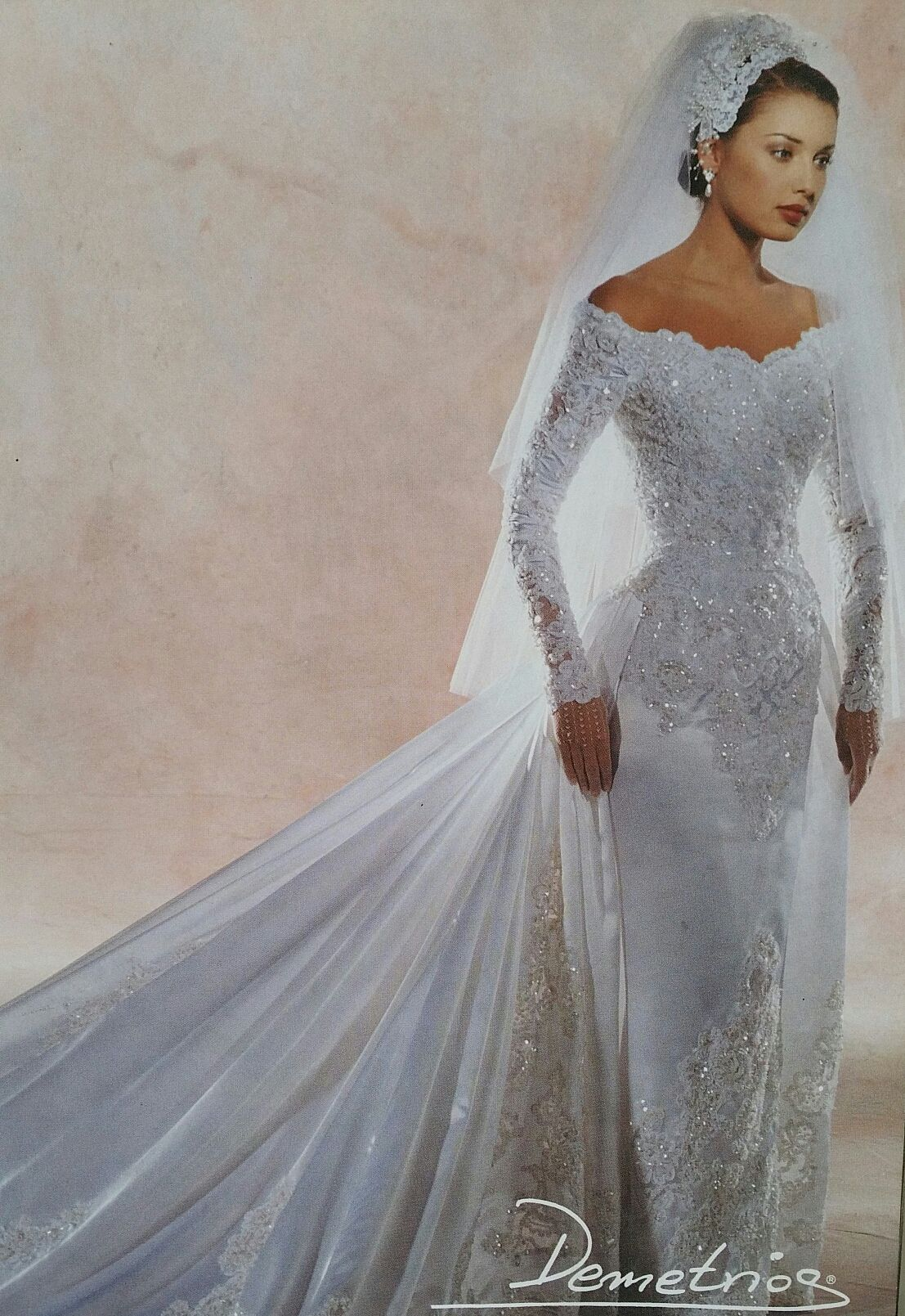 Demetrios 20   Bridal dresses vintage, Wedding dresses, 20s ...