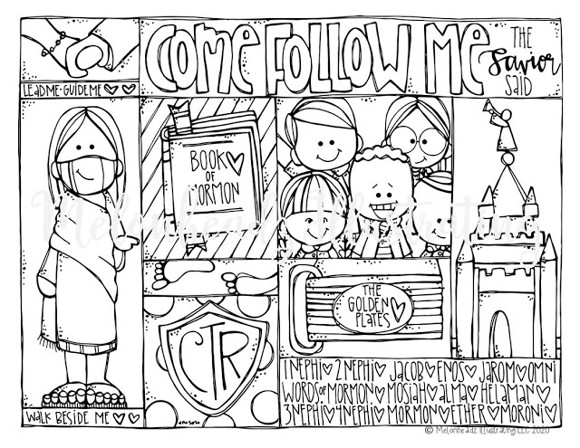 come follow me coloring page freebie in 2020 ( images