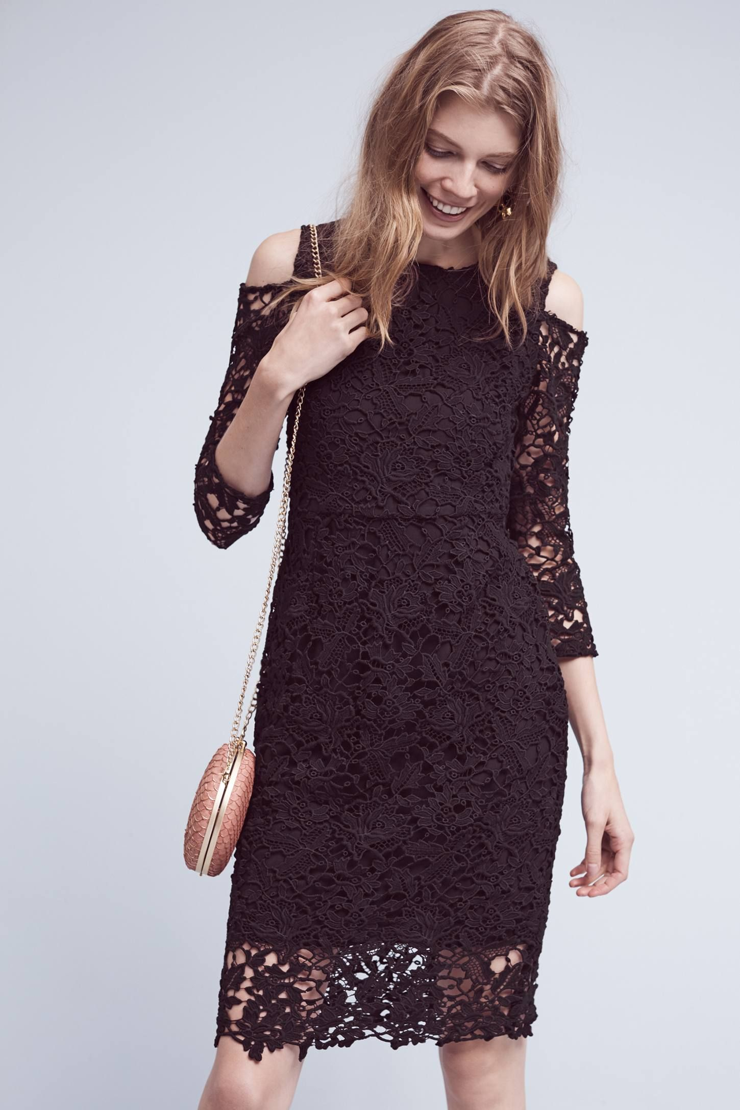 a28e358eefb Shop the Willa Open-Shoulder Lace Dress and more Anthropologie at  Anthropologie today. Read customer reviews