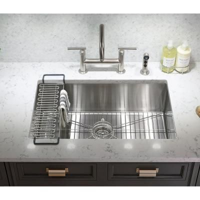 Kohler Strive Undermount Stainless Steel 29 In Single Bowl
