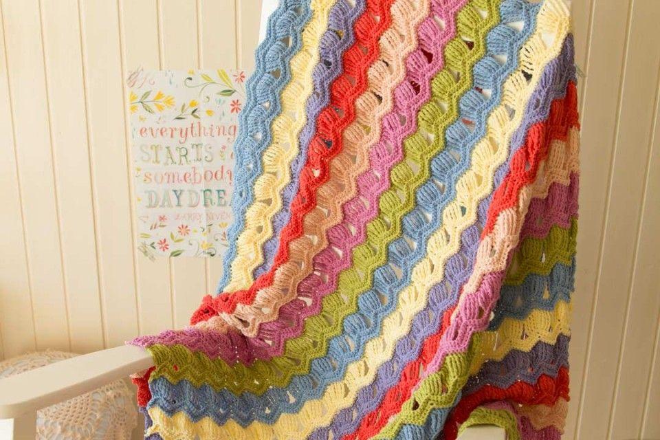 guiño-acreativebeing-vintage-fan-ondulación-crochet-afgano-manta-3 ...