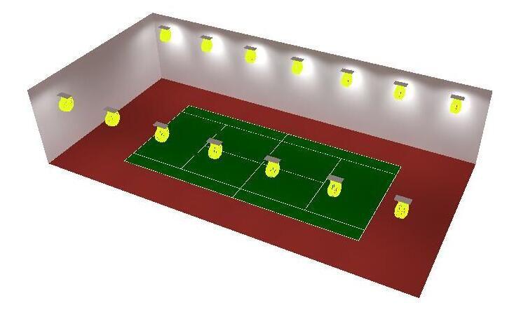 Tennis Court Lighting Layout Tennis Court Stadium Lighting Indoor Tennis