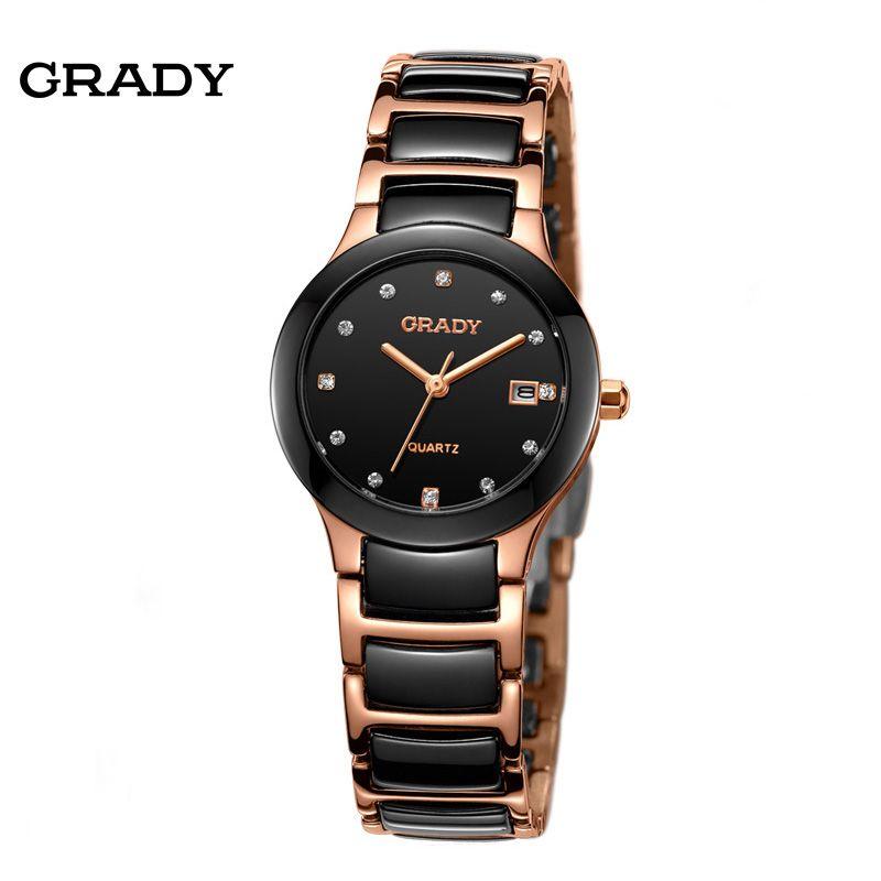 b9ed320bd9a Luxury Ceramic Water Resistant Women Wrist Watch