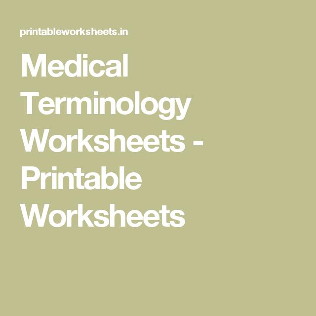 image regarding Printable Medical Terminology Worksheets called Healthcare Terminology Worksheets - Printable Worksheets