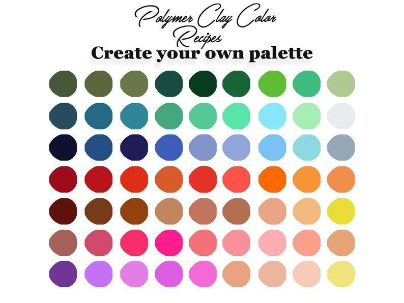 Digital Download Polymer Clay colors, Clay colorin