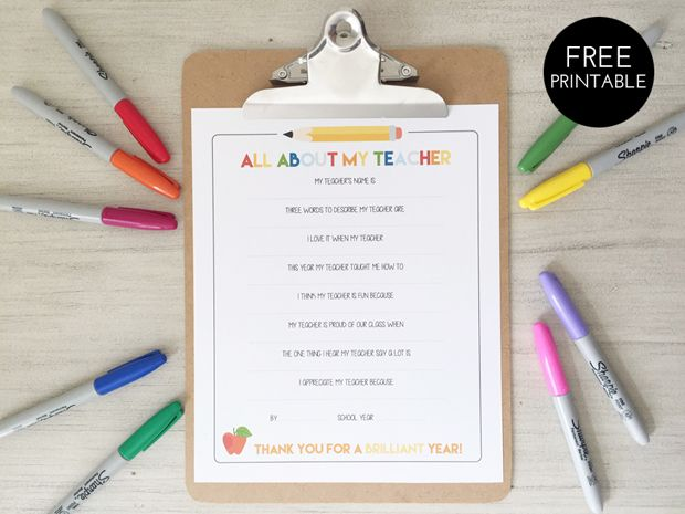 image relating to All About My Teacher Free Printable identify cost-free printable all above my trainer job interview by means of sarahmstyle