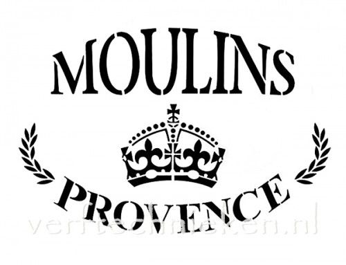 sjabloon Moulins Provence Crown