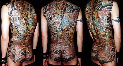 Chris Trevino Is An Expert In Traditional Japanese Tattooing Who Earned The Nickname Horimana After St Full Body Tattoo Japanese Traditional Body Suit Tattoo