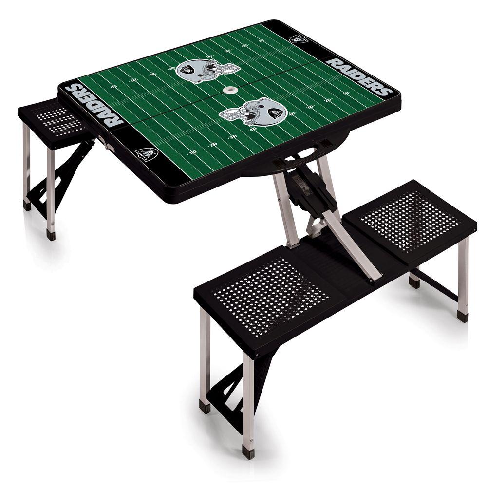 Oakland+Raiders+Folding+Picnic+Table