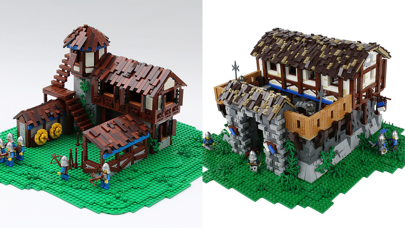 Age Of Empires Ii Buildings In Lego Form Minecraft Lego Age