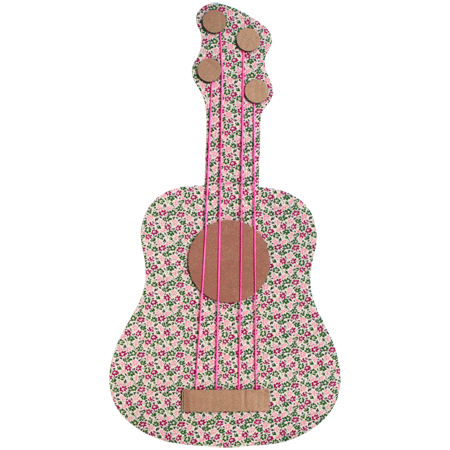 carton + fabric guitar