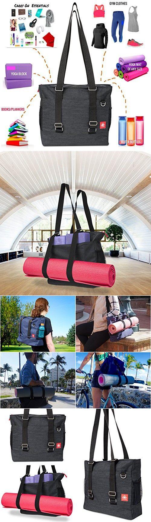 749707da45 LUCKAYA Yoga Mat Tote bag Backpack  Multi Purpose Carryall Bag For Office