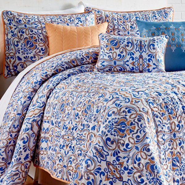 Salmon 6 Piece Quilt Set Quilt sets, Bedding sets