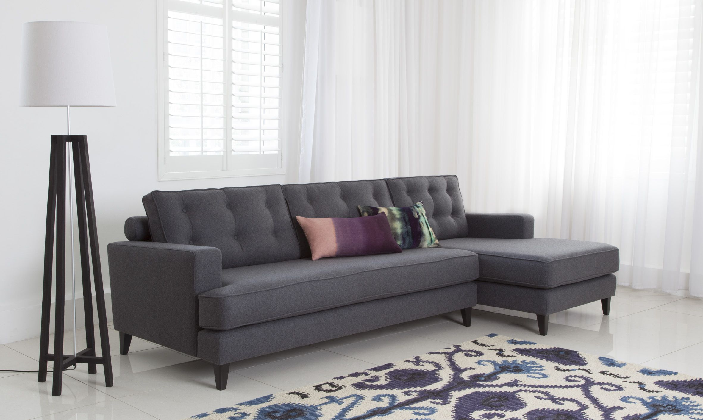 The Mistral sofa by Roger Lewis Furniture available from Heals