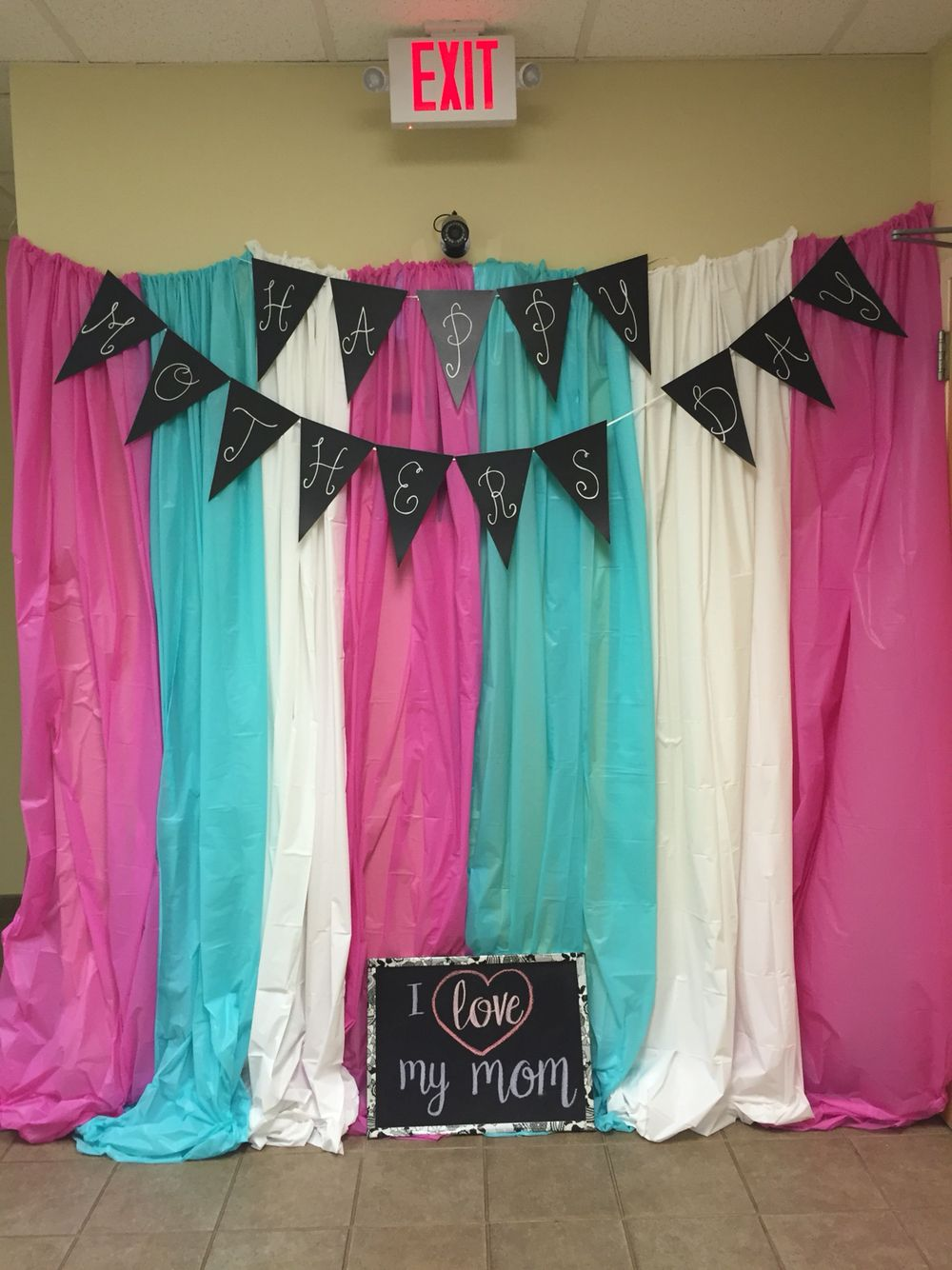 Mother's Day photo booth I created for the families at our ...