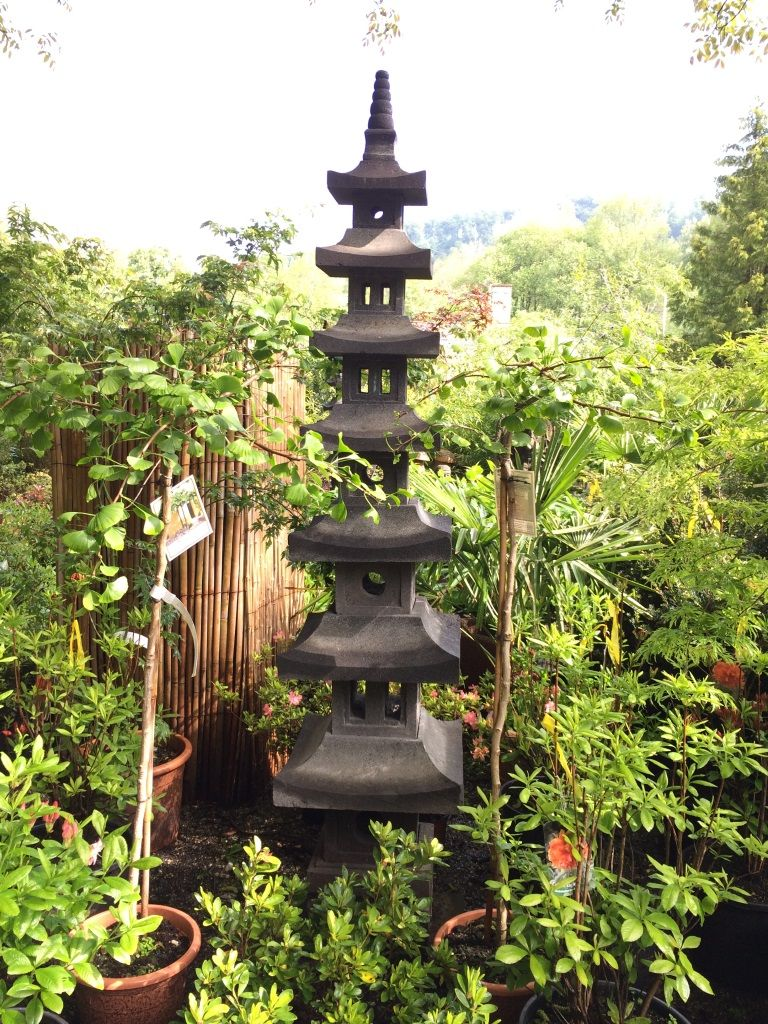Japanische Steinpagode 7 Ebenen 250cm Steine Japanische Pagode Laterne Garten
