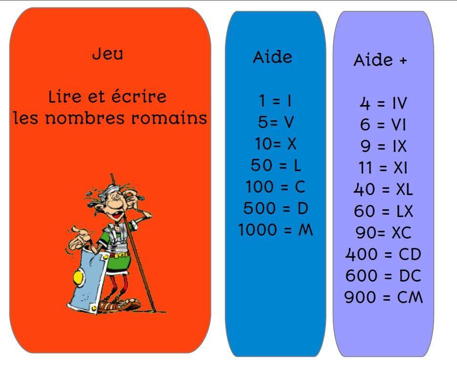 jeu nombres romains de deux choses l 39 une ecole jeux cm1 jeux science et cartes de. Black Bedroom Furniture Sets. Home Design Ideas