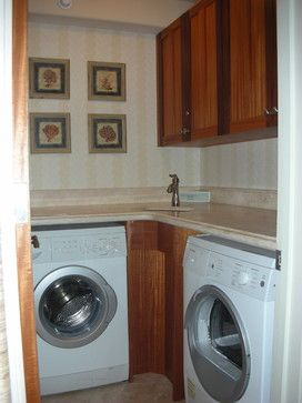 Move The Washer To Almost The Corner And Scoot The Sink And Dryer