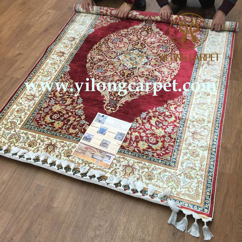 The handmade silk rug with best quality and design is just for you.  #carpet #rugs #handmade #designer #design #silk #wool #fine #master #weaver#collection#flooring #home #myinsta #google+   #2015 #hamburg#veryfine #gift www.yilongcarpet.com alice@yilongcarpet.com whatsapp: +86 15638927921