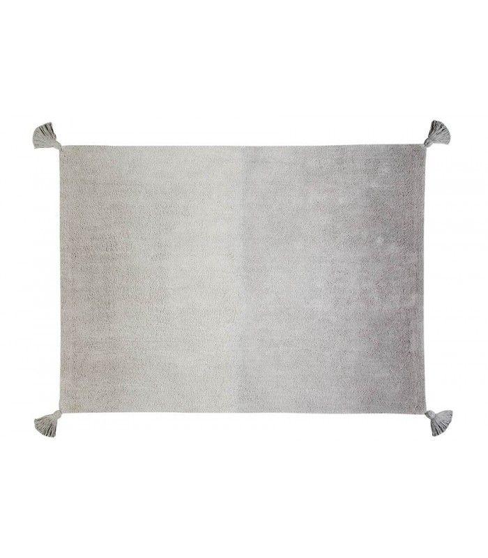 Best Ombré Dark Grey Grey Washable Rugs Ombre Rug Lorena 400 x 300