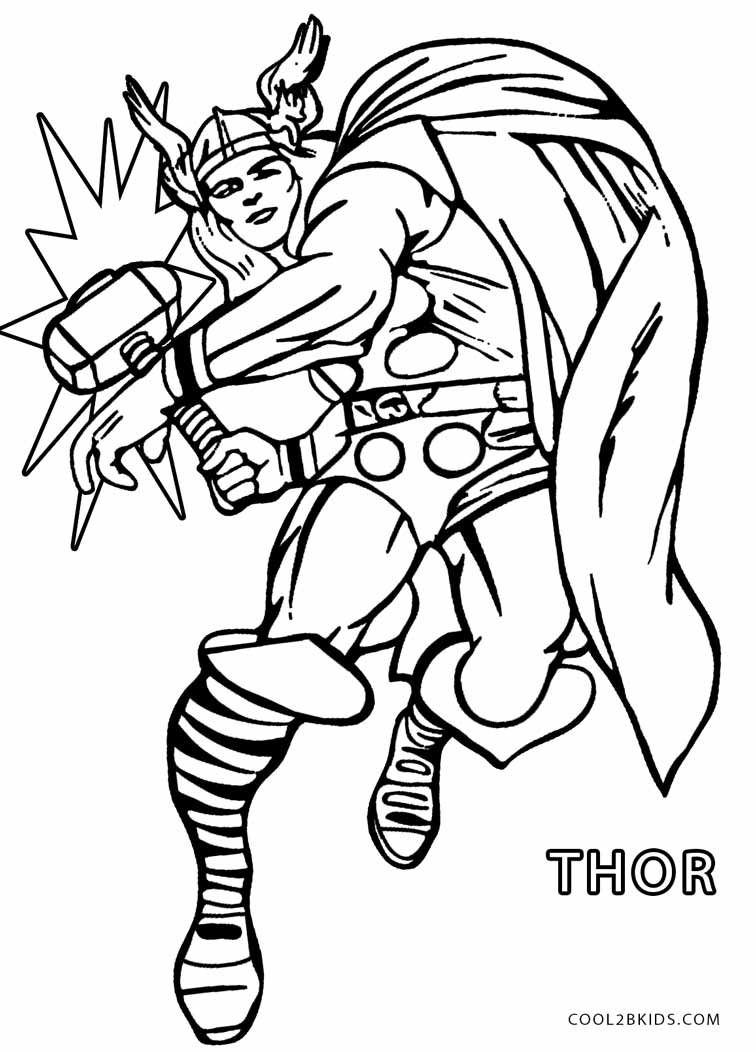 Printable Thor Coloring Pages For Kids | Cool2bKids | Coloring Pages ...