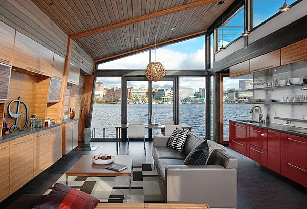 Attrayant Stunning Houseboats For Aquatic Living