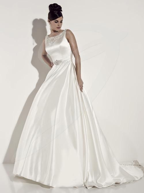 Jacquelin Bridals Canada - 19930 - Wedding Gown - Satin gown with ...