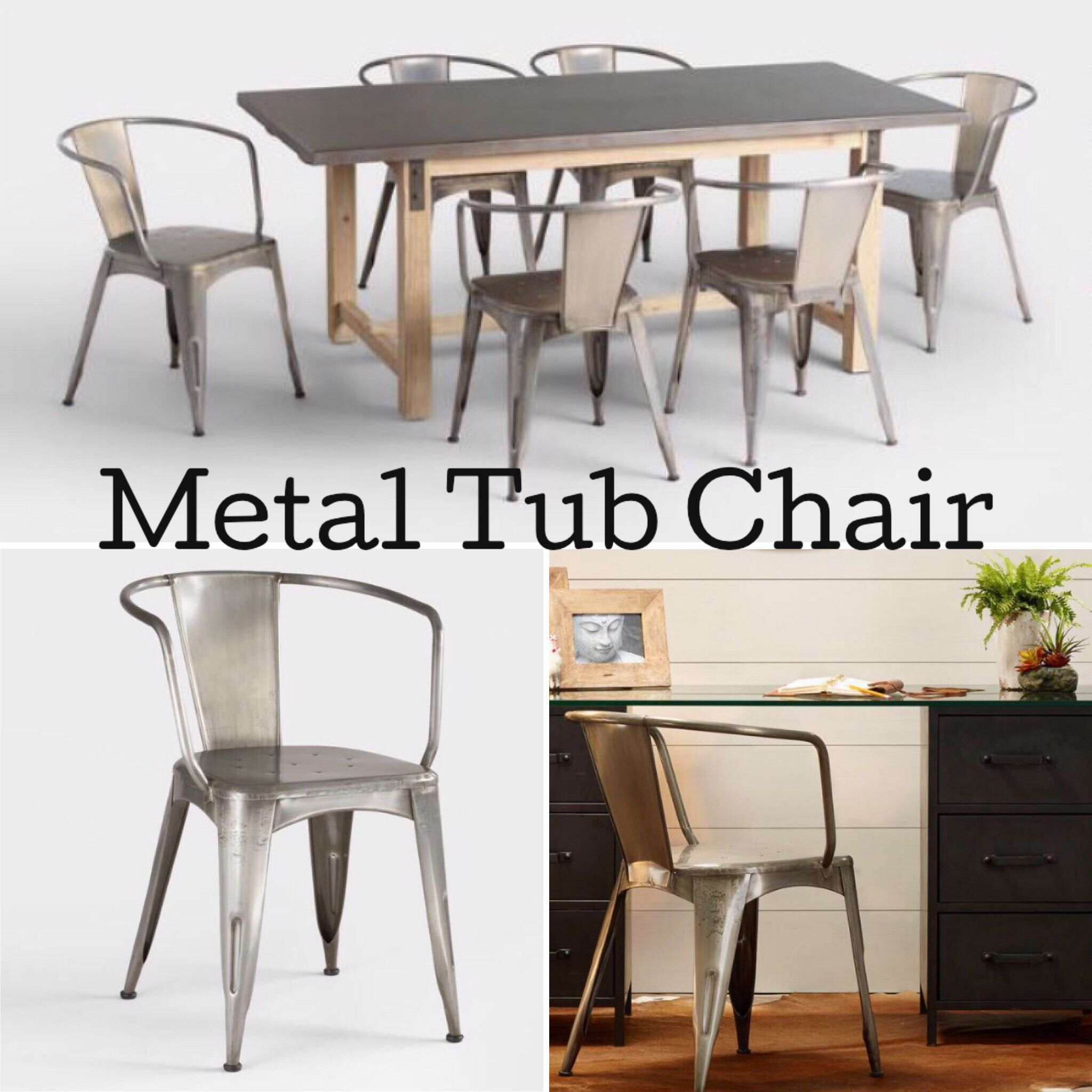 I Love These Metal Tub Chairs. Very Rustic Look For Both Home And Office.
