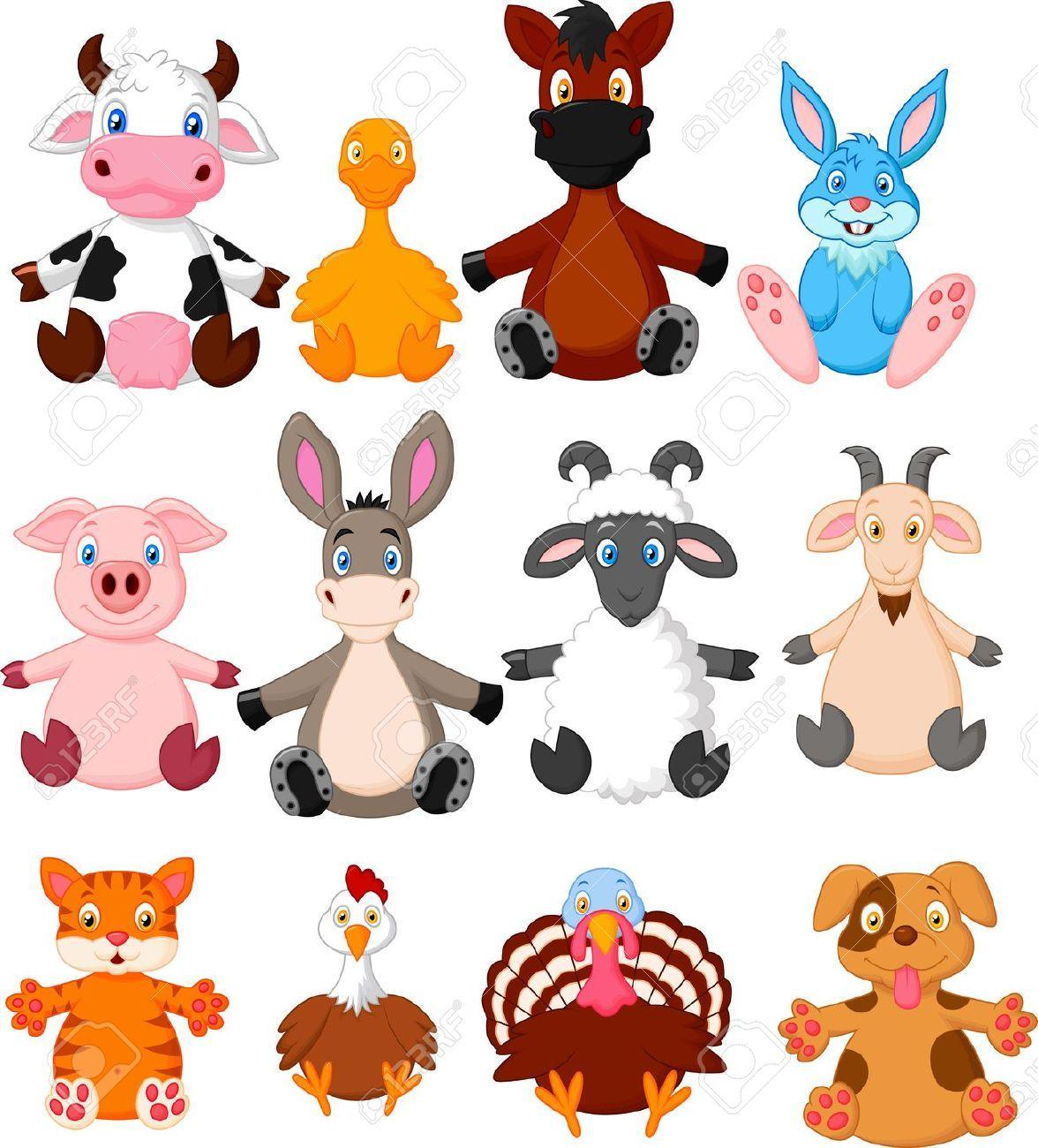 Coleccion De Dibujos Animados De Animales De Granja Animales Dibujos Animados Animales Domesticos Animados Animales Animados Tiernos