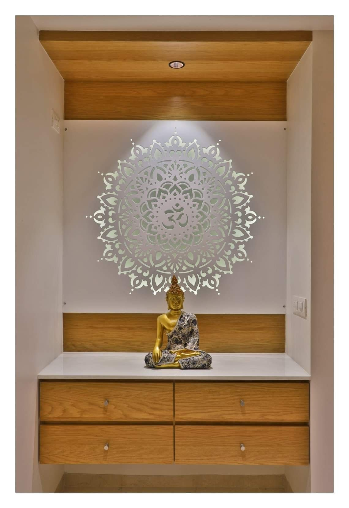 Latest Pooja Room Door Designs 2013: Buddha Keep Peace Of Mind (With Images)